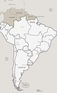 Map of the Seventh-Day Adventist South American Division