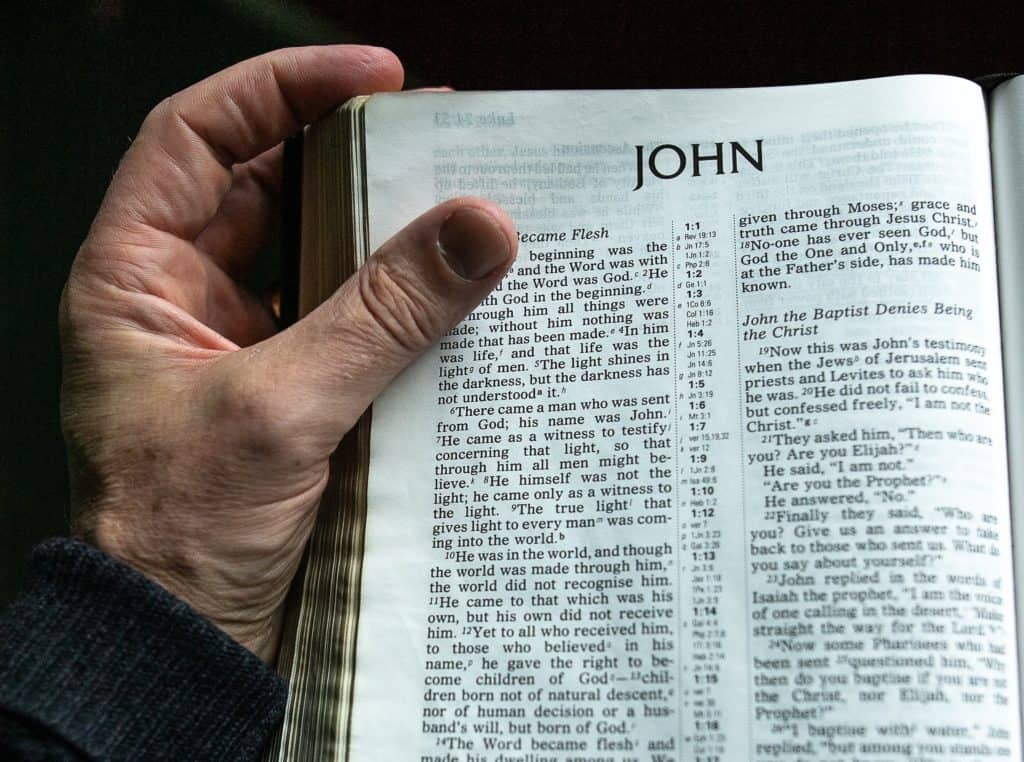 Bible open to book of John