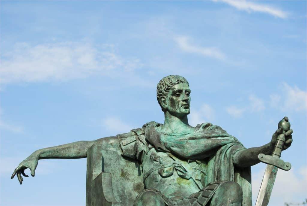 Bronze statue of Roman emperor, Constantine