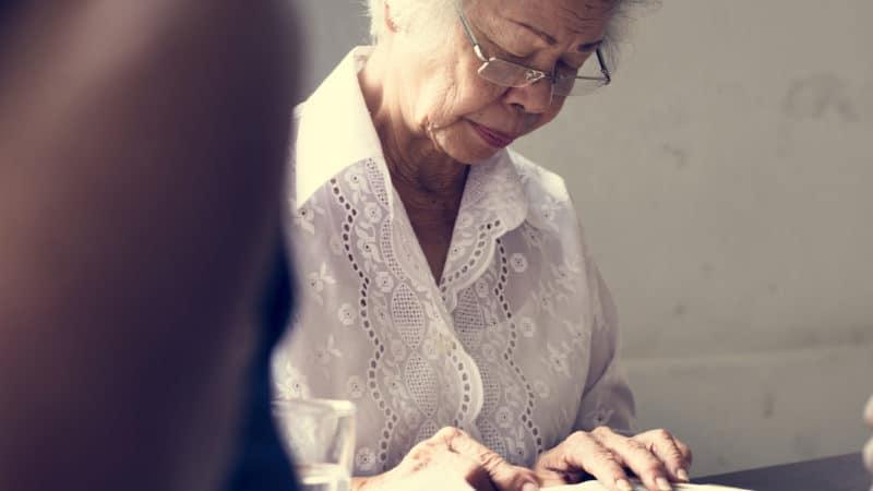 Senior woman reading the Bible