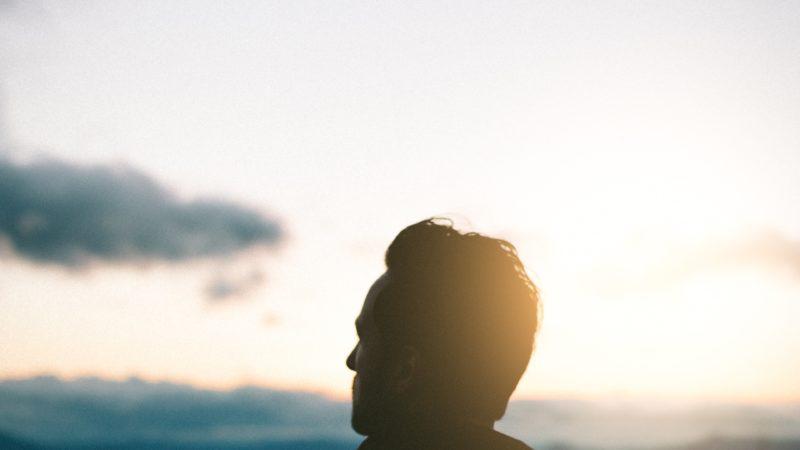 Man looking at the sky.