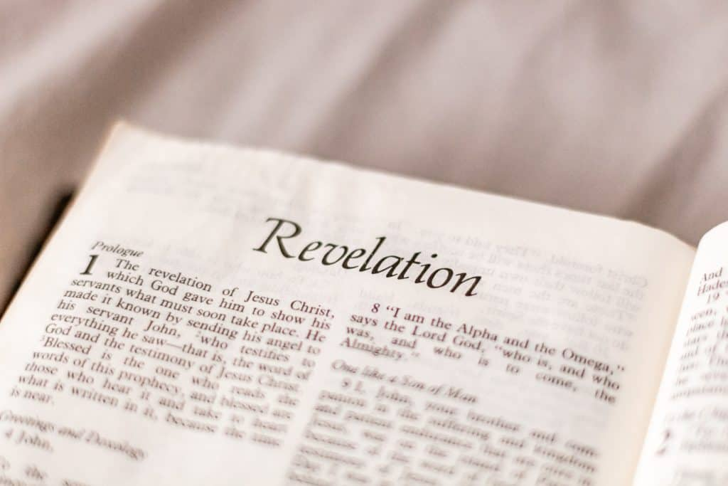 The Bible open to Revelation