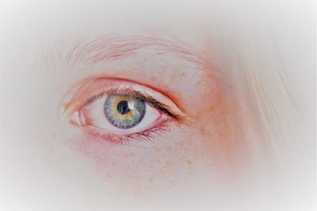 Closeup of a woman's eye.