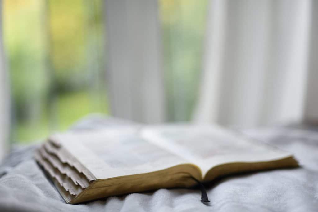An open Bible